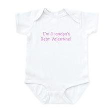 Grampa's Best Valentine Infant Bodysuit