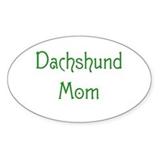 Dachshund Mom 13 Oval Decal