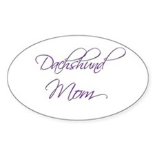 Dachshund Mom 19 Oval Decal