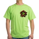 Dark Purple Daylily Green T-Shirt