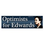 Optimists for Edwards bumper sticker