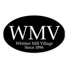 Whittier Mill Oval Bumper Decal