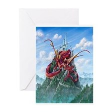 Unique Dragon on castle Greeting Card