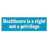 HEALTHCARE Bumper Car Sticker