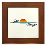 San Diego Sunset Framed Tile