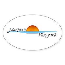 Martha's Vineyard Oval Decal