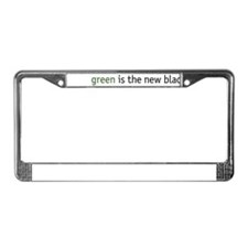 Cute Green is the new black License Plate Frame