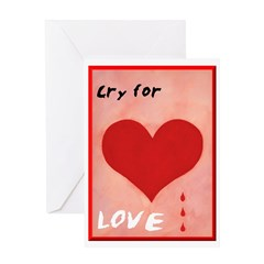 Humorous Valentine's Card - Cry for Love