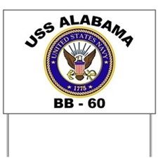 USS Alabama BB 60 Yard Sign