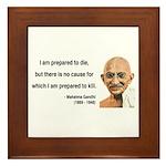 Gandhi 17 Framed Tile