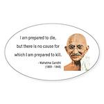 Gandhi 17 Oval Sticker