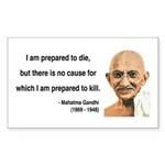 Gandhi 17 Rectangle Sticker