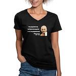 Gandhi 17 Women's V-Neck Dark T-Shirt