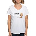 Gandhi 17 Women's V-Neck T-Shirt