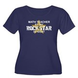 Math Teacher Rock Star Women's Plus Size Scoop Nec