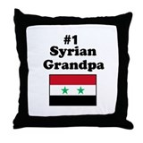 #1 Syrian Grandpa Throw Pillow