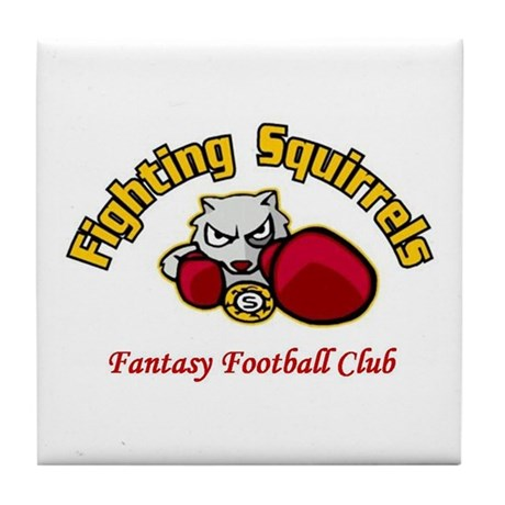 Fighting Squirrels Tile Coaster