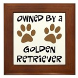Owned By A Golden... Framed Tile