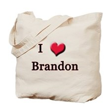 I Love (Heart) Brandon Tote Bag