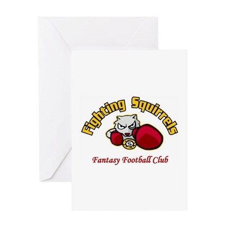 Fighting Squirrels Greeting Card