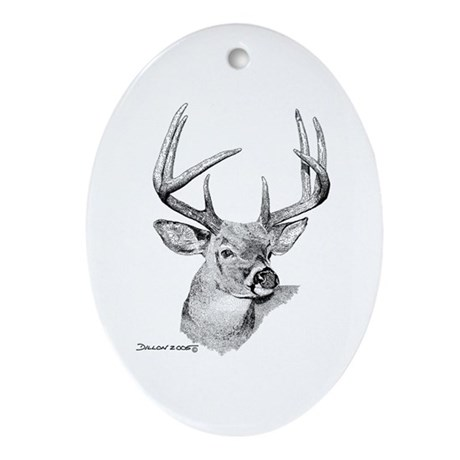 Whitetail Deer Oval Ornament
