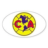 Calcomania America (Ovalada)