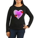Ladybug Love Women's Long Sleeve Dark T-Shirt