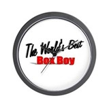 """The World's Best Box Boy"" Wall Clock"