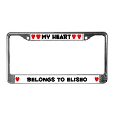 My Heart: Eliseo (#004) License Plate Frame