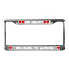 My Heart: Alyson (#006) License Plate Frame