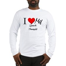 I Heart My Speech Therapist Long Sleeve T-Shirt