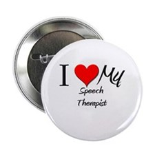 "I Heart My Speech Therapist 2.25"" Button (10 pack)"