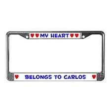 My Heart: Carlos (#005) License Plate Frame