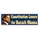 Constitution Lovers for Barack Obama (sticker)