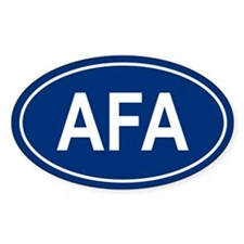 AFA Oval Decal