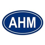 AHM Oval Decal