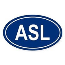 ASL Oval Decal