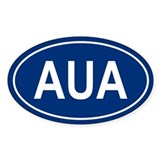 AUA Oval Decal