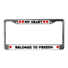 My Heart: Freddy (#004) License Plate Frame