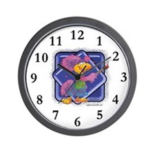Birdy the Painter Wall Clock