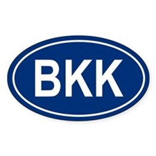 BKK Oval Decal