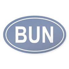 BUN Oval Decal