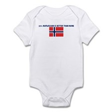 25 PERCENT NORWEGIAN IS BETTE Infant Bodysuit