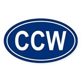 CCW Oval Decal