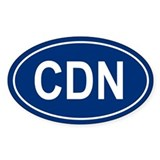 CDN Oval Bumper Stickers