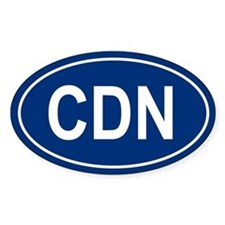 CDN Oval Decal