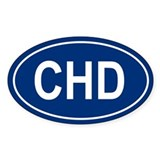 CHD Oval Decal