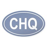 CHQ Oval Decal