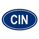 CIN Oval Decal