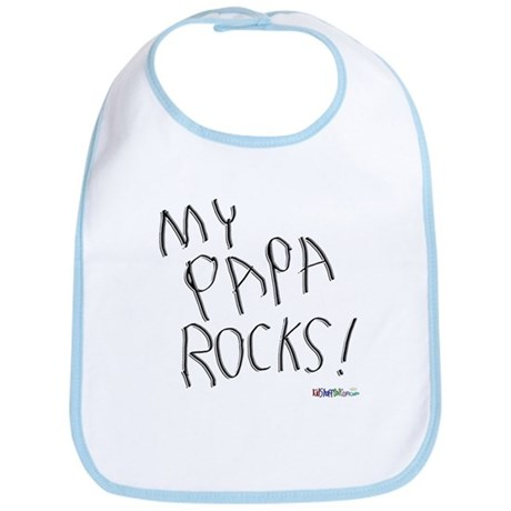 My Papa Rocks ! Bib